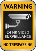 Cctv video surveillance label
