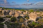 Forcalquier, Provence, France: Rochers Des Mourres, Strange Geological Formation In A Plateau Of The poster