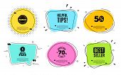 Helpful Tips Symbol. Best Seller, Quote Text. Education Faq Sign. Help Assistance. Quotation Bubble. poster