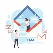 Email Marketing, Advertising Campaign, Newsletter Marketing, Reaching Target Audience With Emails Fl poster