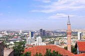 Aerial view of the capital city Ankara, Turkey. View from Hisar Castle hill poster