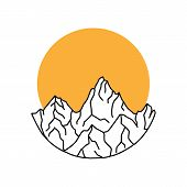Mountain Logo, Mountain Logo Vector, Hills Logo, Mountain Symbol, Mountain Icon, Mountain Logo Templ poster