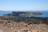 pic of nea  - Volcanic islands Nea Kameni Palea Kameni and Aspronisi in Greece - JPG