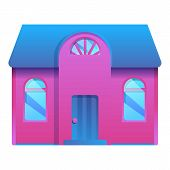 House Town Icon. Cartoon Of House Town Vector Icon For Web Design Isolated On White Background poster