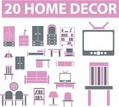 20 home decor signs. vector