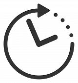 Vector Time Direction Flat Icon. Vector Pictograph Style Is A Flat Symbol Time Direction Icon On A W poster