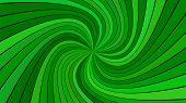 Green Abstract Psychedelic Spiral Ray Burst Stripe Background - Vector Graphic Design poster