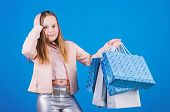 Fashionista Addicted Buyer. Fashion Boutique Kids. Birthday Girl Shopping. Black Friday Best Deals.  poster