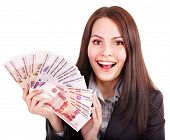 foto of fantail  - Woman with  money - JPG