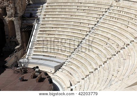 Fragment Of Ancient Odeon Of Herodes Atticus