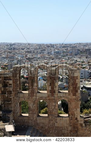 Fragment Of Wall Of Odeon Of Herodes Atticus