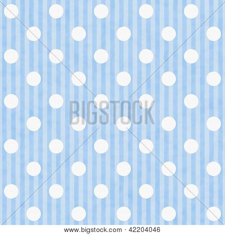 Blue And White Polka Dot Fabric Background