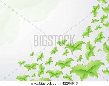 Conceito de folha de borboleta verde