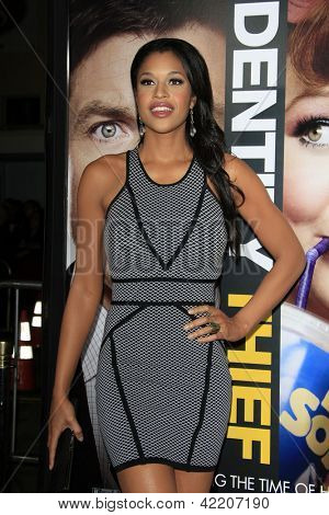 LOS ANGELES - FEB 4:  Kali Hawk arrives at the 'Identity Theft' premeire at the Village Theater on February 4, 2013 in Westwood, CA