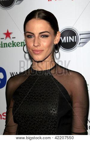LOS ANGELES - FEB 10:  Jessica Lowndes arrives at the Warner Music Group post Grammy party at the Chateau Marmont  on February 10, 2013 in Los Angeles, CA..