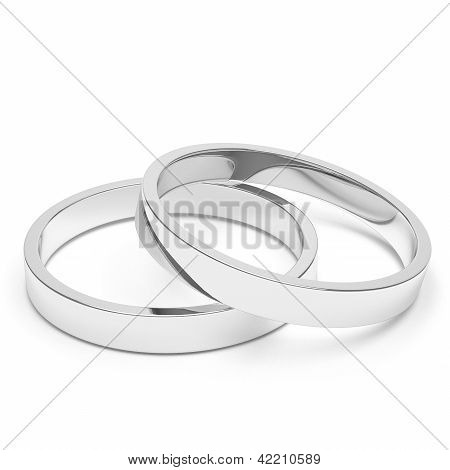 Silver Or Platinum Wedding Rings