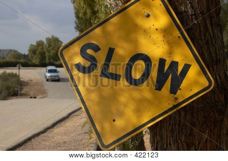 Slow Us Traffic Sign