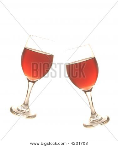 Photo Illustration Of Two Wine Glasses