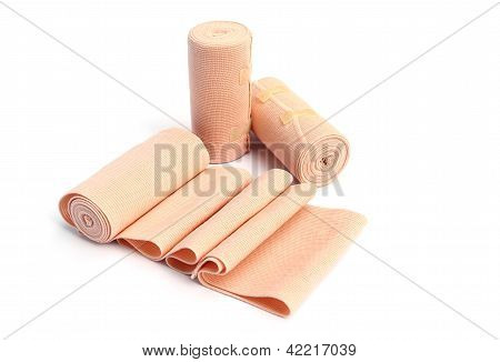 Elastic Bandage On White Background