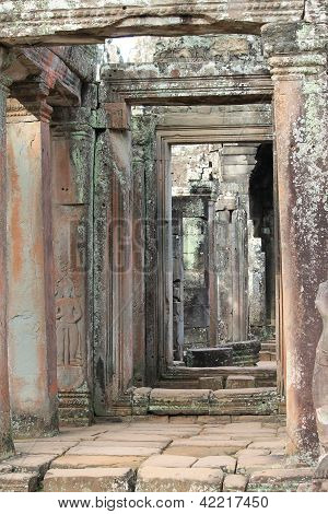 Stone Doorways At Bayon Temple, Angkor Wat, Cambodia