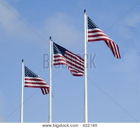 Old Glory Times Three