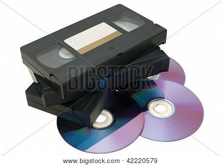 Vhs Tape And Dvd