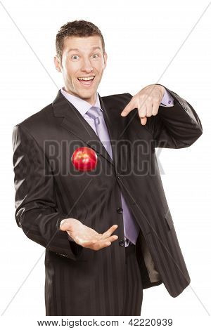 Businessman Tossing Apple