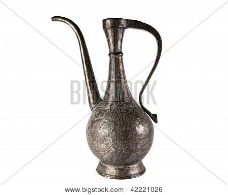 Old brass jug