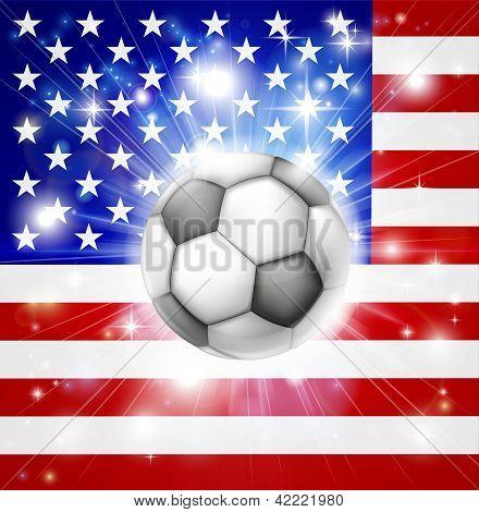 Bandeira de futebol do Estados Unidos da América