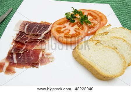 tomato ham and bread all in one dish