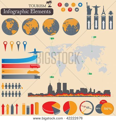 Infographics. Tourism And Travel