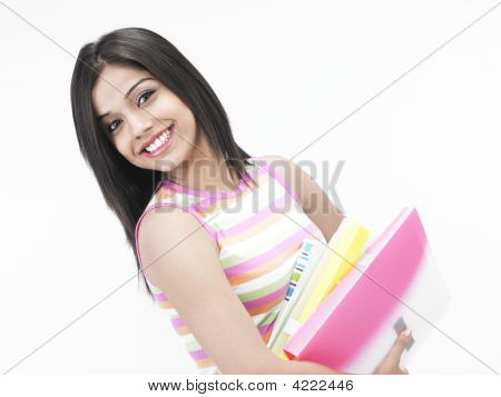 Asian Teenager Of Indian Origin With Files