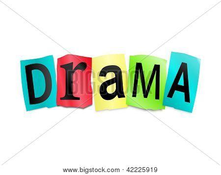 Concepto de drama.
