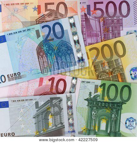 Present Euro Banknotes