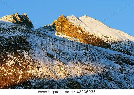 Morning view of Zillertal Alpen