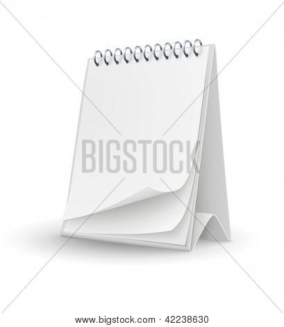 calendar template with blank pages. EPS10 Vector Illustration.