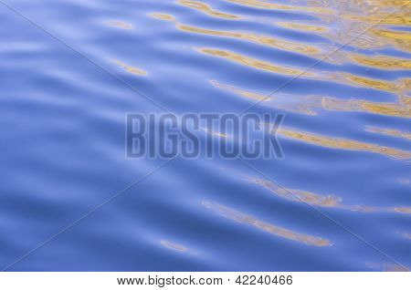 Wavy Water Reflection Abstract