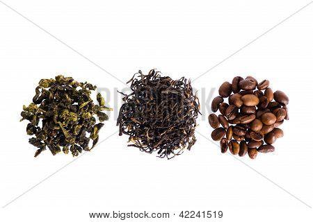 Green, Black Tea And Coffee