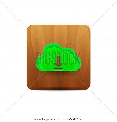 Virtual cloud icon