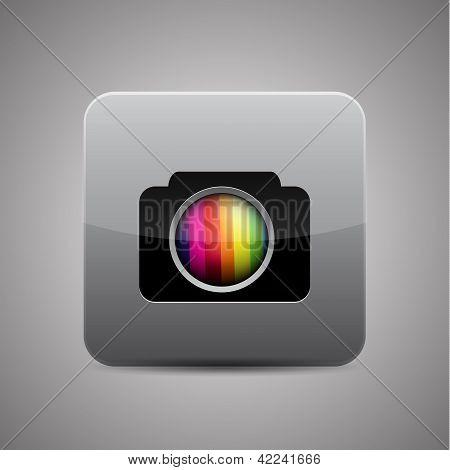 Ícone de aplicativo de câmera do vetor