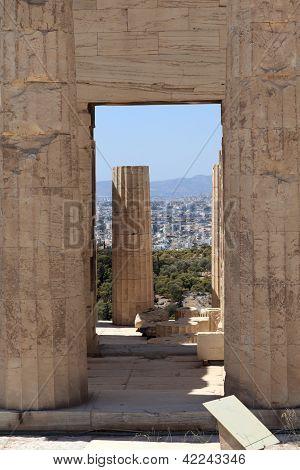Arch Of Propylaea Of The Athenian Acropolis