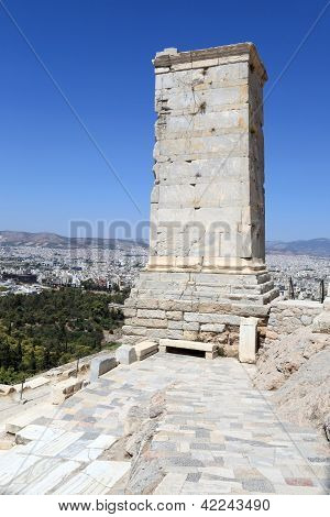 Side Of Agrippa Tower Of The Acropolis Propylaea