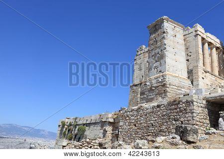 View Of Ancient Athens Acropolis Propylaea