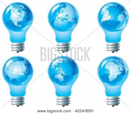 Globe and electric bulb