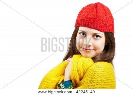 Pretty Woman With Red Hat