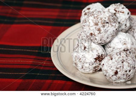Baked Chocolate Coconut Snowballs