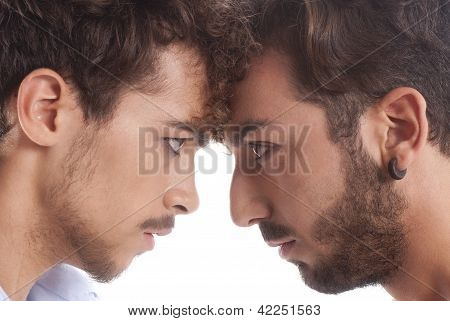 Two Men Against Each Other
