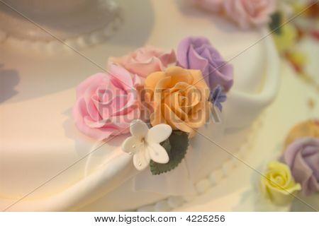 A Close Up Of A Wedding Cake