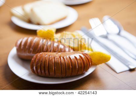 Boiled Sausages From Beef