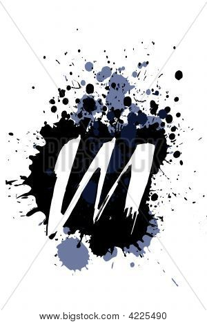 Grunge Alphabet M